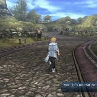 The Legend of Heroes: Trails of Cold Steel II déplacement sur une route de campagne