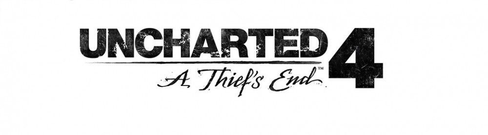 Uncharted 4: A Thief's End Logo sur fond blanc