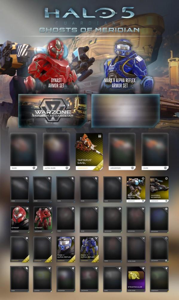 Les nouvelles réquisitions dans Halo 5: Guardians - Ghosts of Meridian