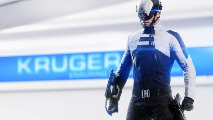 Un agent ProChoc de la KrugerSec dans Mirror's Edge Catalyst