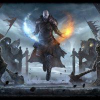 Warhold le souverain entouré de ses guerriers