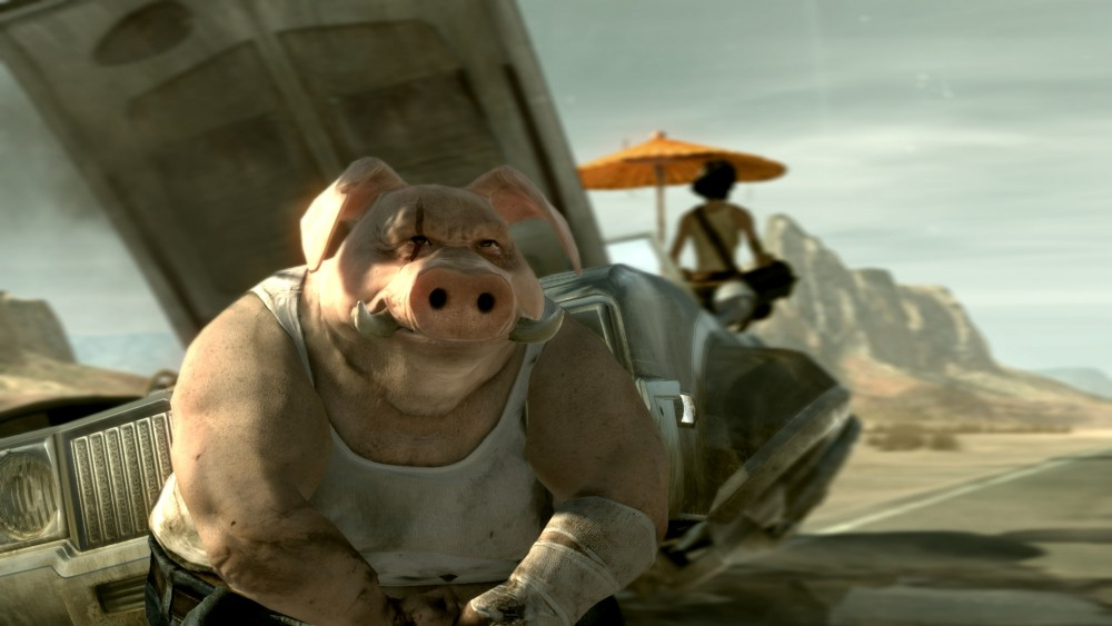 E3 2017 - Beyond Good and Evil 2 Les deux personnages principaux se prélassent