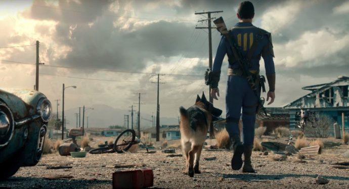 Le personnage principal de Fallout 4 et son chien - bilan 2016
