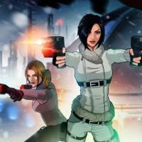 Hana et Rain de Fear Effect Sedna tirent avec leurs pistolets