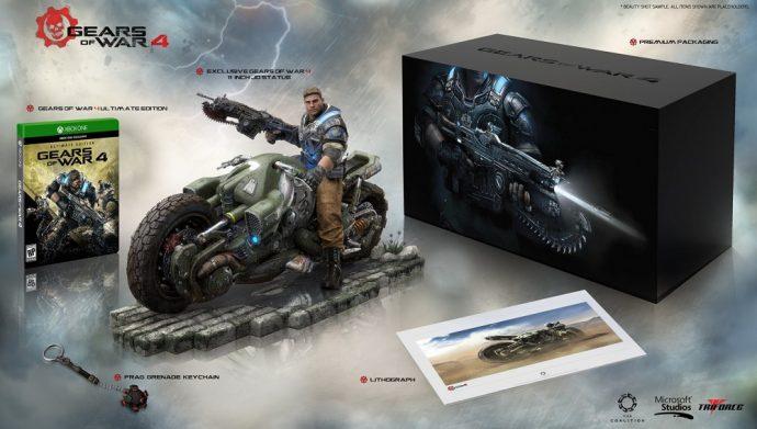 Gears of War 4 contenu de l'édition collector