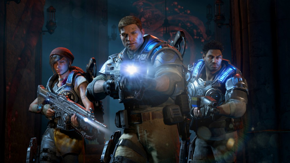 Gears of War 4 JD et ses compagnons prennent la pose