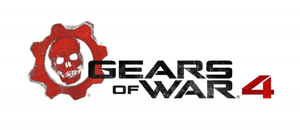 Gears of War 4 logo sur fond blanc