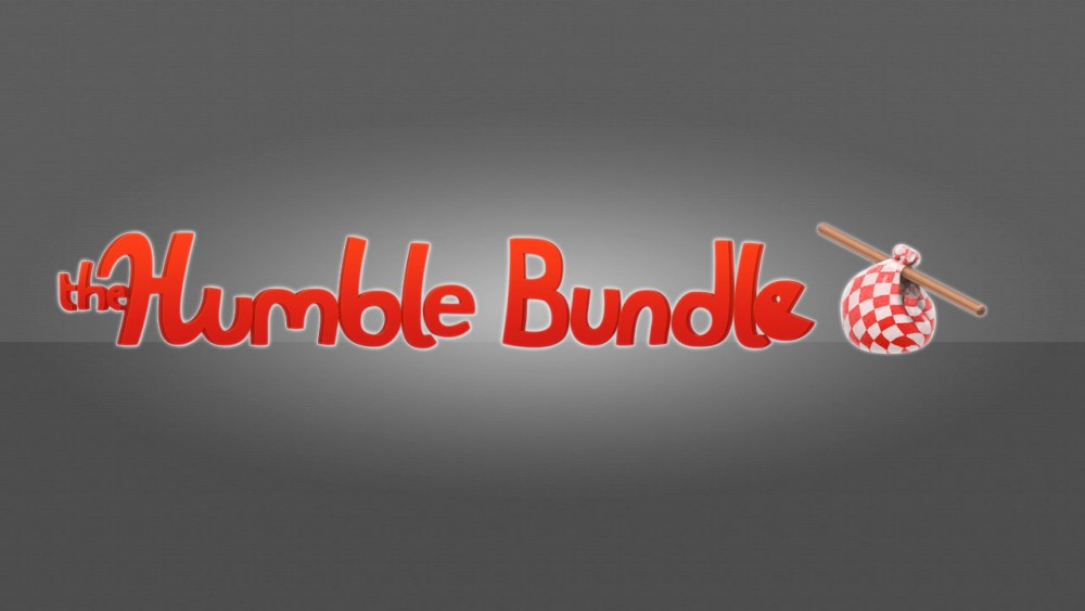 Humble Bundle Logo rouge sur fond gris