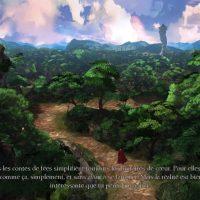 King's Quest Graham marche sur un sentier dans une forêt menant à la tour d'Hagatha