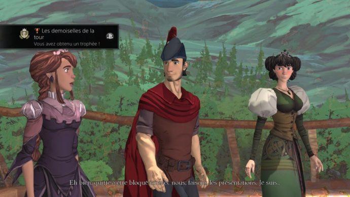 King's Quest Graham en compagnie des deux princesses à secourir