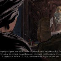 King's Quest Graham est dans son lit et sa femme est dans l'ombre dans l'embrasure de la porte