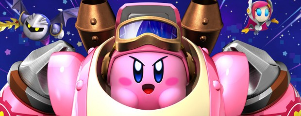 Kirby Planet Robobot kirby sur son robot avec meta knight