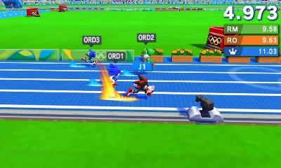 Epréuve de 100 m dans Mario & Sonic aux Jeux Olympiques de Rio 2016