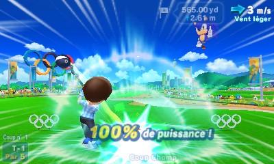 Partie de golf dans Mario & Sonic aux Jeux Olympiques de Rio 2016