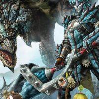 Monster Hunter Generations guerrier qui pose devant un monstre geant