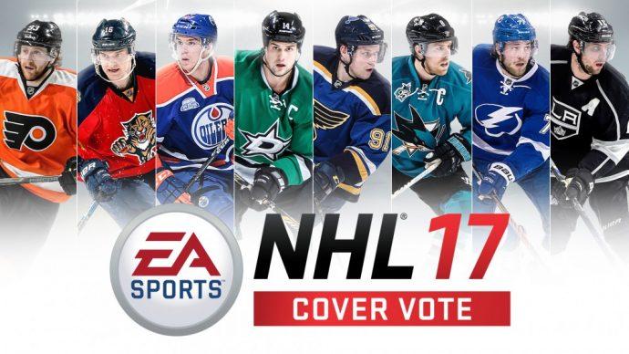 Les 8 joueurs en lisse pour la jaquette de NHL 17