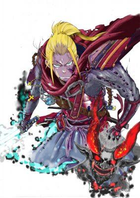 Le héro de Ni-Oh en version manga