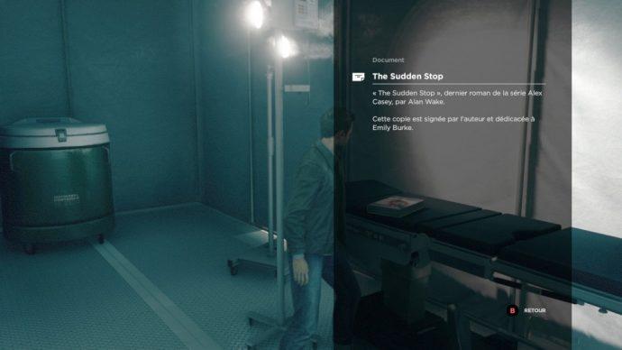 Quantum Break clin d'oeil Alan Wake