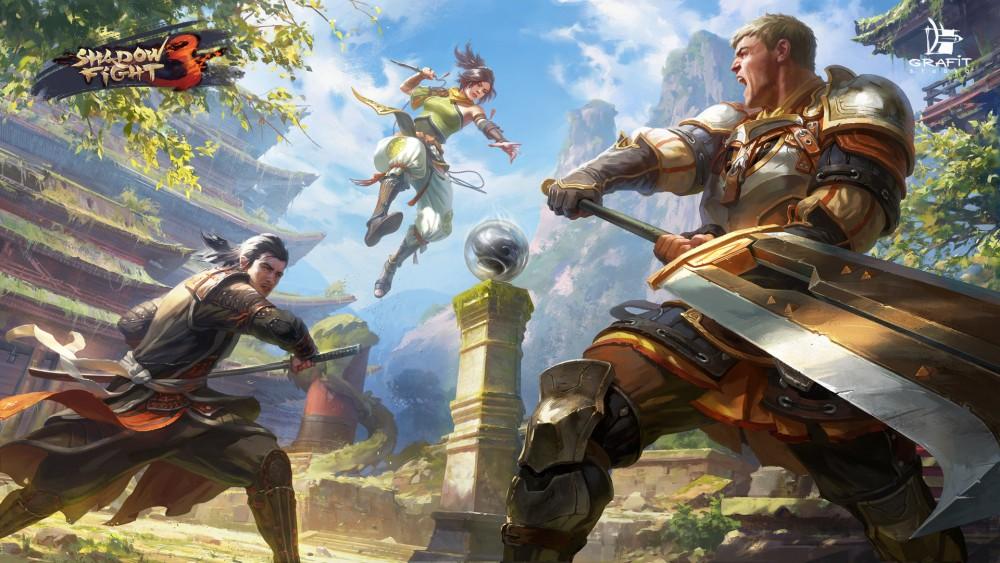 Les trois factions ce font face dans Shadow Fight 3