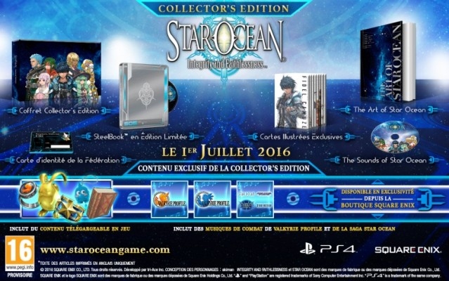Star Ocean Integrity and Faithlessness Edition Collector