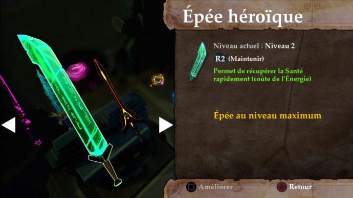 Stories: The Path of Destinies les 4 différentes épées