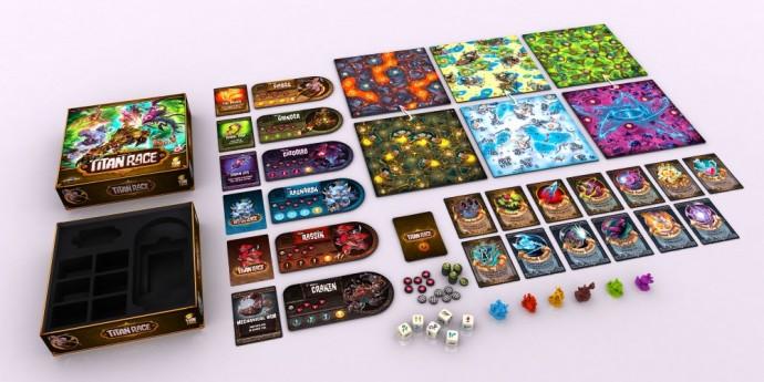Titan Race - plateau de jeu