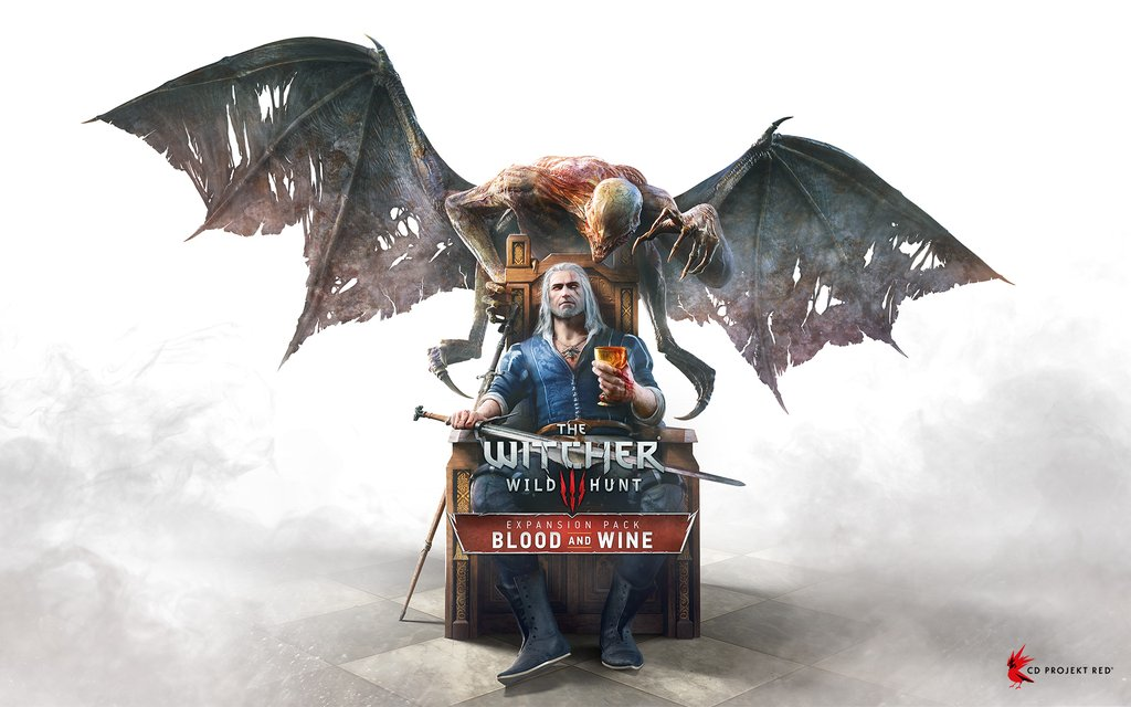 La pochette de la nouvelle extension de The Witcher 3 Blood and Wine