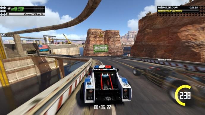 Dans les canyons de TrackMania Turbo