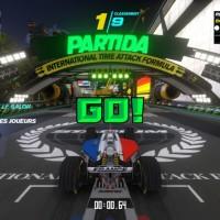 Sur la ligne de départ de TrackMania Turbo