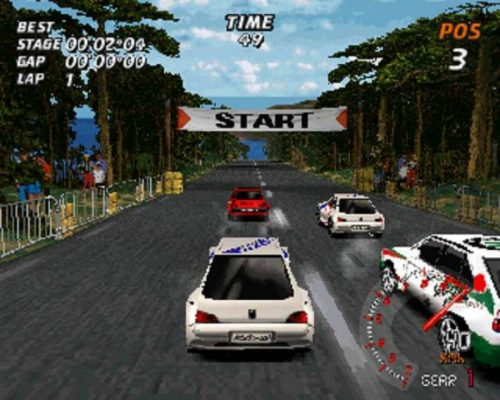 Au départ d'une course dans V-Rally