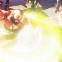 Guile attaque Zangief