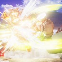 Guile explose Zangief avec un Sonic Boom