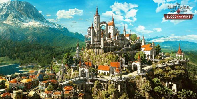 La ville de Toussaint où prendra place l'extension Blood and Wine de The Witcher 3: Wild Hunt