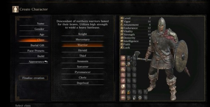 Dark Souls 3 classes