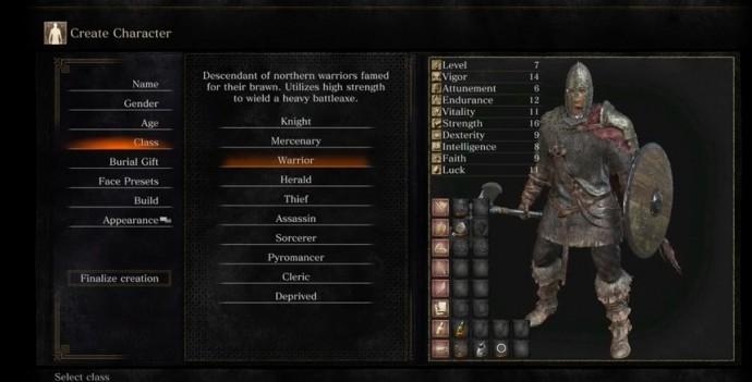 Dark Souls 3 classes