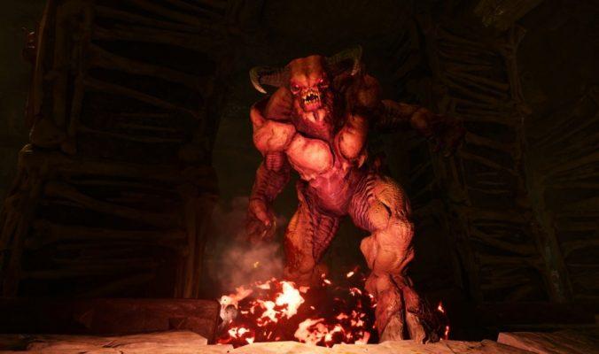 Des monstres très amicaux dans Doom