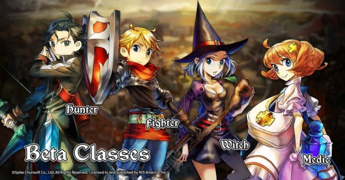 grand kingdom - les classes de la bêta