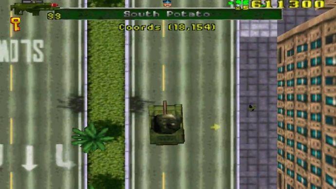 A bord d'un tank dans GTA