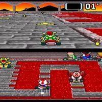 Bower dans son château dans Super Mario Kart
