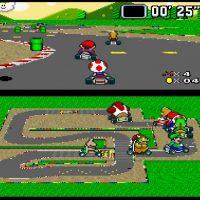 Toad sur le circuit de Mario dans Super Mario Kart