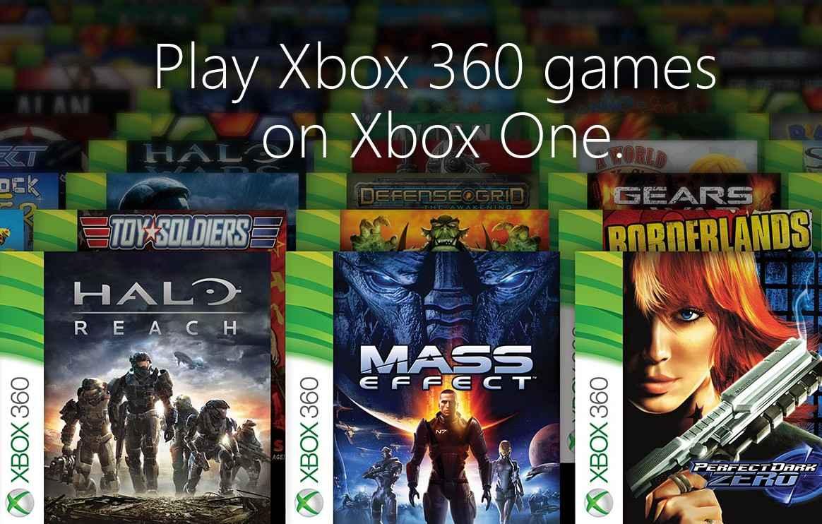 Bannière rétrocompatibilité Xbox 360 One