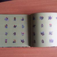 Les logos des personnages dans l'artbook