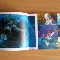 L'intérieur de l'artbook