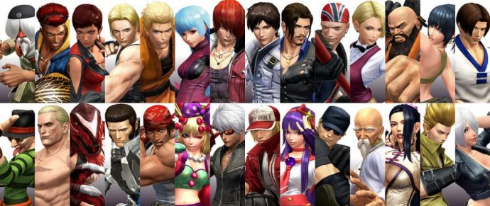 Une partie du rosters de The King of Fighters XIV