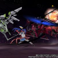 Le personnage le plus classe du jeu en action dans MegaTagmension Blanc Neptune vs Zombies