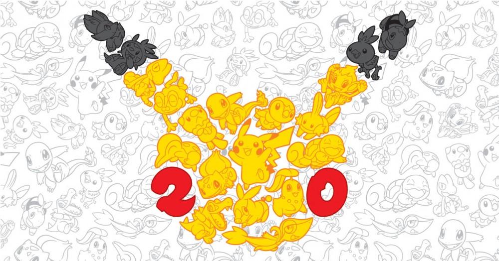 Logo 20ans Pokémon