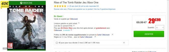 Rise of the Tomb Raider  bon plan