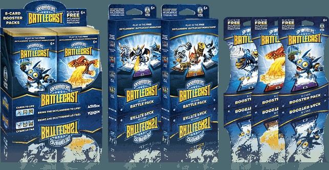 Skylanders Battlecast deck et boosters