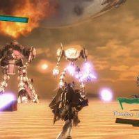 Earth Defense Force 4.1 combat contre des robots sur la plage