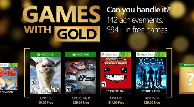 Games With Gold Juin 2016